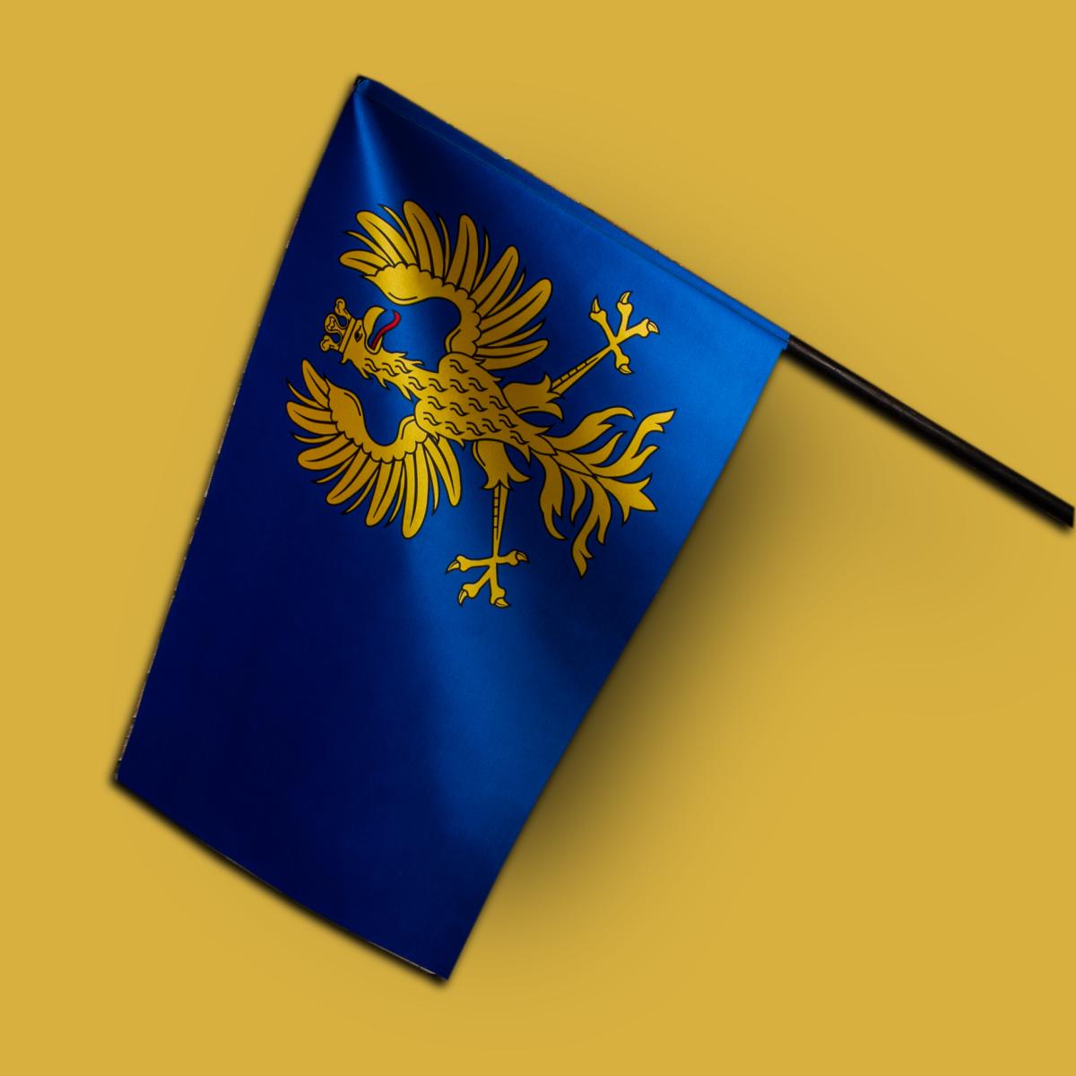 Flaga Księstwa Cieszyńskiego satynowa prestige